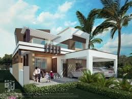 MODERN #BUNGALOW EXTERIOR #3DRENDER DAY VIEW BY www.hs3dindia.com @