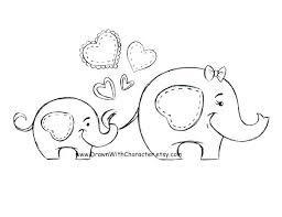 Baby Elephant Coloring Pages Cute And Piggie Drawing At Free For