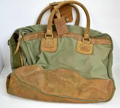 orvis gokey leather canvas bag