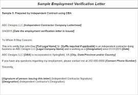 Sample Employment Verification Letter Format