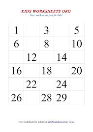 Fill In The Missing Number Worksheets For Kindergarten Printable ...