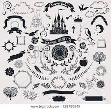 Elements Of A Fairy Tale Set Fairy Tale Vector Photo Free Trial Bigstock