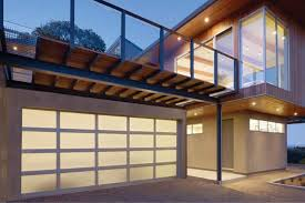 modern aluminum sleek sophisticated aluminum glass garage doors