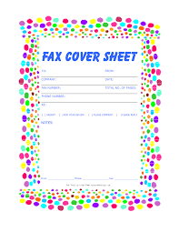 Cover Sheet Design Free Fax Cover Sheet Template