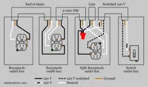 how to wire a split receptacle controlled by switch diagram images split recepticle wiring electrical 101