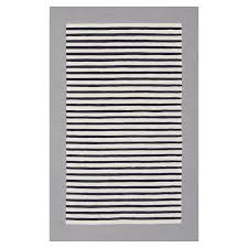 lakes stripe rug gray navy