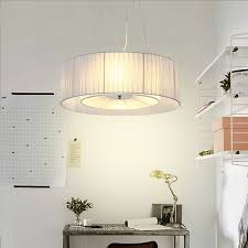 modern pendant light round for bedroom living room fabric lamp shade hanging lamps for bedroom