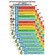 10 Commandments Chart Carson Dellosa Ten Commandments Chart 6ct