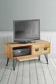 industrial media furniture. Felix Industrial Media Unit - Solid Oak And Steel Furniture
