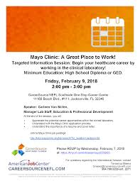 Informational Session Mayo Clinic A Great Place To Work Csnefl