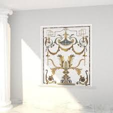 glass marble mosaic wall niche ideas