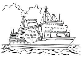 Disney Cruise Ship Coloring Pages To Print Line Page Day Delightful