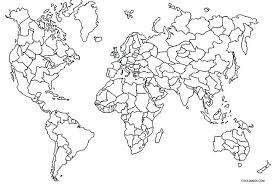 Small Picture Map Of The World Coloring Page Corresponsablesco