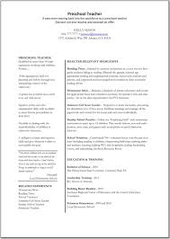 Kindergarten Teacher Job Description Resume Perfect Preschool And Kindergartenher Resume Format Sample Featuring 21