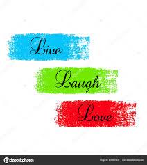 Wort Sprüche Leben Lachen Lieben Vektor Illustration