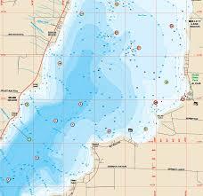 Mullett Burt Lakes Fishing Map