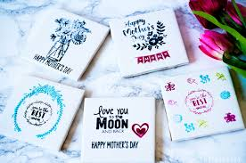 these mother s day stamped tile coasters will put a smile on your mother s face