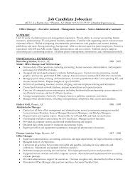 Sample Summary For Resume Sample Summary Executive Administrative Assistant Resume With 53