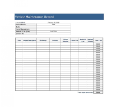 014 Vehicle Maintenance Log Excel Template Ideas Awesome Car Tracker