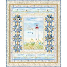 Harbor Lights Tanning Details About Wilmngton Prints Harbor Lights Cynthia Coulter Tan Quilt Kit