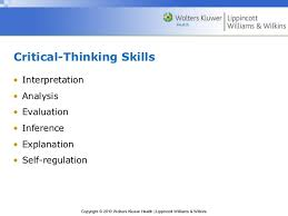 Module   Critical Thinking   The Nursing Process A Closer Look at