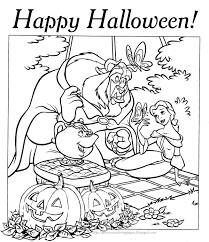 Small Picture Halloween Coloring Pages HALLOWEEN COLORING PAGE PRINCESS BELLE