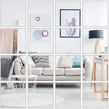 16 Pcs Flexible Non Glass Acrylic Mirror Sheet Tiles ... - Amazon.com