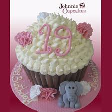 Giant Cupcake Birthday Johnnie Cupcakes