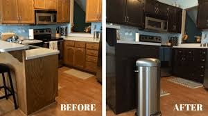 Restain Oak Kitchen Cabinets Magnificent How To Stain Oak Kitchen Cabinets With Gel Stain The Domesticator