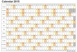 2015 Single Page Weekly Calendar Web Cool Tips