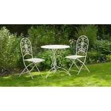white metal outdoor furniture. vintage garden furniture set antique white metal table 2 chairs patio outdoor s