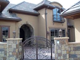 Rock And Brick Combinations Victors Stucco  Stone Your - Exterior stucco finishes