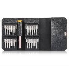 <b>Gocomma Screwdriver Wallet Kit</b> Repair Tools 25 in 1 - Silver 1pc