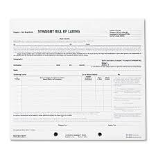 Straight Bol Free Blank Bill Of Lading And Straight Bol Short Form