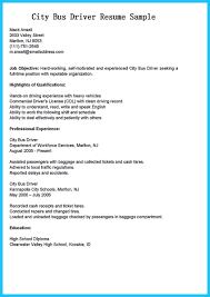 Stunning Bus Driver Resume To Gain The Serious Bus Driver Job Ideas