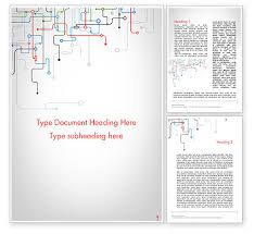 Word Background Template Tech Background Word Template