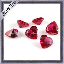 Ruby Gemstone Color Chart Charming Heart Shape 5 Ruby For Jewelry