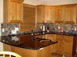 oak kitchen cabinets simple inspiration awesome ideas flooring with 5 granite countertops honey google search