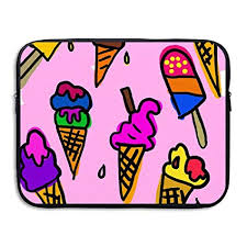 fonsisi laptop storage bag graphic wallpapers ice cream portable waterproof laptop case briefcase sleeve bags cover