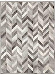 yves heather grey cowhide rug
