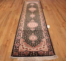 black silk modern qum persian runner rug 49404 whole nazmiyal