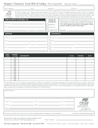 bill of lading trucking truck bill of lading fill online printable fillable blank