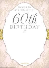 60 birthday invitations free printable 60th birthday invitation templates drevio
