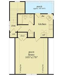 Detached Guest House Plan - 29852RL floor plan - 2nd Floor