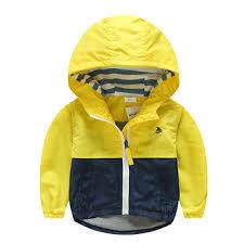 Spring Autumn Jacket For Boys Kids Coat Toddler Hooded ...