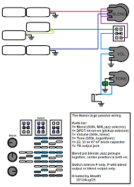 wiring a mono tractor bass talkbass com or could i be do it similar to the passive stu hamm schematic by stealth and add a blend for the jazzes like this
