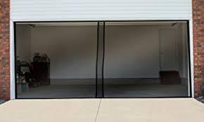 two car garage doorAmazoncom Pure Garden Two Car Garage Door Screen Curtain Black