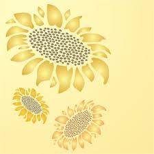 sunflower 1 stencil sunflower stencil