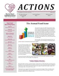 2012 ACTIONS Annual Report - Sacred Heart Cathedral School