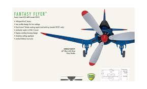 hunter 24852 blue fantasy flyer 48 3 blade flush mount ceiling fan blades included lightingdirect com